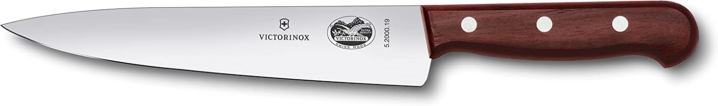 Victorinox 7-1/2-Inch Stiff Chef's Knife/Slicer, Rosewood Handle