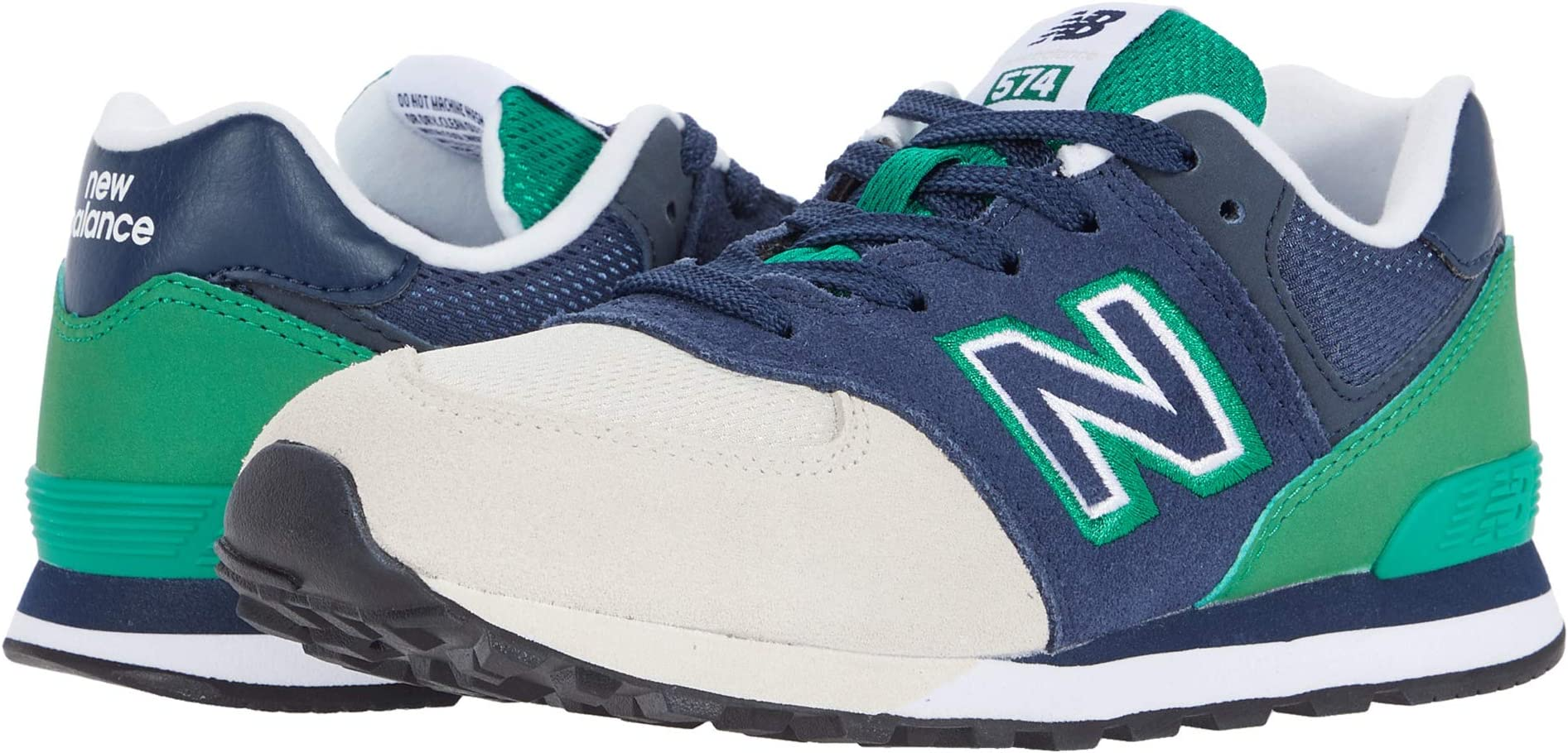 New Balance? Kids 574 Shadow Logo Pack Round-Toe Sneaker