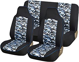 Cool Se Carline Blue Camo Fabric 4Pcs Full Car Seat Covers Gmtry Best Dining Table And Chair Ideas Images Gmtryco