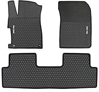 HD-Mart Car Floor Mat for Honda Civic 9th Generation 2012-2013-2014-2015,Custom Fit,Rubber Black Auto Floor Mats All Weather Heavy Duty & Odorless