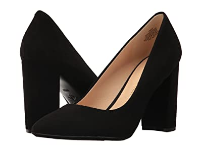 Nine West Astoria9x9 Block Heel Pump (Black Suede) High Heels