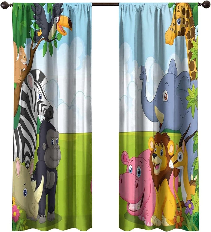 Children's Room Curtain Panel 5% OFF Set Ani Cartoon Panels 2 2021 new