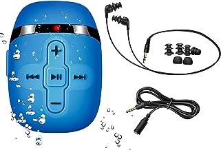 Sewobye Waterproof MP3 Player for Swimming, Waterproof Headphones with Short Cord, mp3 Waterproof Swimming Underwater 3 Me...