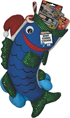 "RIGRAP Blue Merry Fishmas Stocking, 22""+ x 12"""