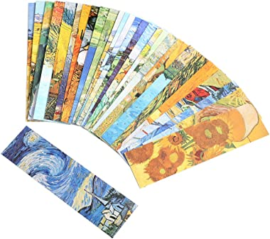 Van Gogh Oil Painting Bookmarks for Women Men Kids Boys Girls, 30PCS
