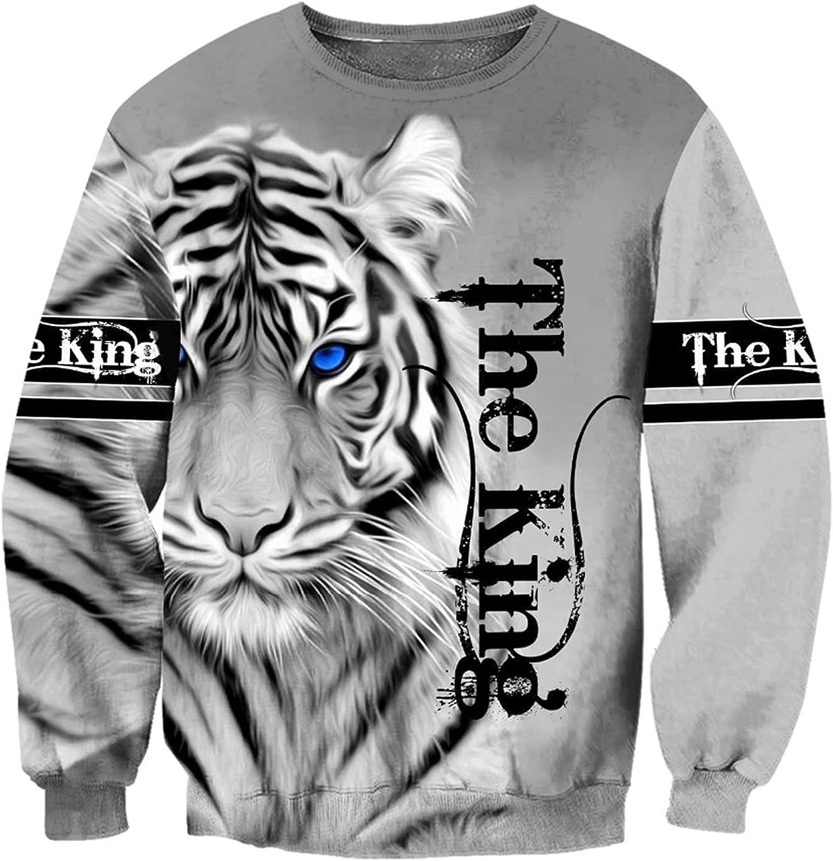 Men's 3D Printed Jacket Milwaukee Mall Fashionable Hoodie Print Animal Zipper Max 67% OFF