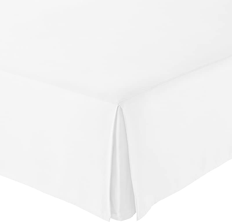 AmazonBasics Pleated Bed Skirt Queen Bright White