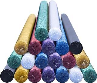 OCGIG Bâtons de colle adhésifs 11 x 200 mm Bâton Thermofusible Coloré Bling 20 PCS pour bricolage pistolet à colle chaude ...