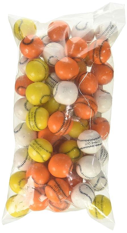 Oak Leaf Baseballs Bouble Gum Assorted Colors, 1 Pound