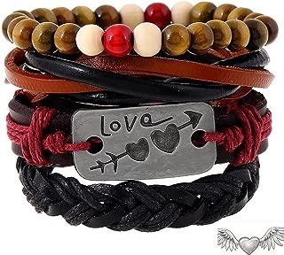 Dosige Pulsera de artesanal cuerda trenzada unisex Love Estilo vintage Accesorios de Moda Regalos para hombres Accesorios para pareja