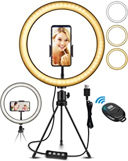 """ELEGIANT 10,2 """"stationär LED-fotografiljusring, trådlös fjärrkontroll stativringljus, 3 färger, 11 ljusstyrka, höjdjusterb..."""