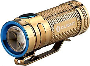 Paquete:linterna de color blanco neutro Olight S MINI Cree XM-L2, la linterna EDC con interruptor lateral más pequeña con pila CR123A y funda