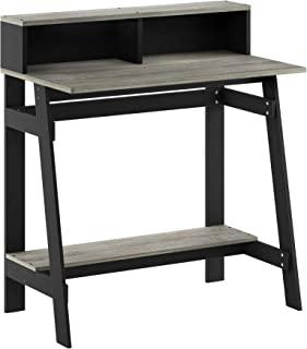 مكتب للكمبيوتر باطار من سلسلة سيمبلستك من فورينو Black/French Oak Grey
