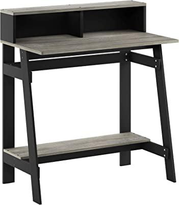 Furinno Simplistic A Frame Computer Desk, Black/French Oak Grey