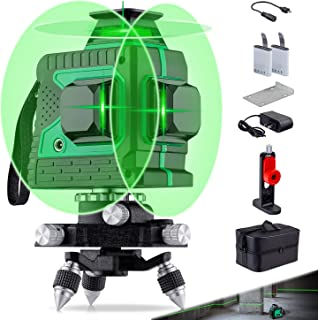 Sponsored Ad – HUTACT 3D Green Laser Level Rechargeable 12 Lines Self-Leveling Laser Level Tool with Pulse Mode Three Plan...