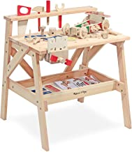 Melissa & Doug Wooden Project Solid Wood Workbench (Sturdy Wooden Construction, Storage Shelf, 26″ H × 18.75″ W x 24″ L, Great Gift for Girls and Boys - Best for 3, 4, 5, and 6 Year Olds)