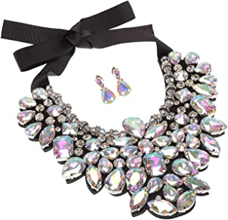 Holylove 6 Colors Costume Statement Necklace for Women Jewelry Fashion Necklace 1 Set with Gift Box