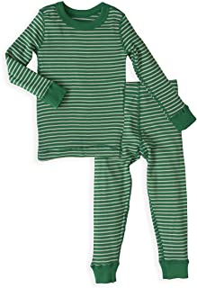 Skylar Luna Unisex Pajamas Set- 100% Organic Turkish Cotton- Holiday Long Sleeve Girls Boys Prints - GOTS Certified