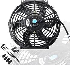 MOSTPLUS Black Universal Electric Radiator Slim Fan Push/Pull 12V + Mounting Kit (10 Inch)