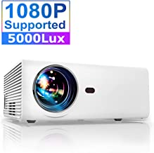 Proyector, YABER Proyector Portátil Soporte Full HD 1080p,