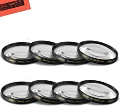 55mm and 58mm Close-Up Filter Set (+1, +2, +4 and +10 Diopters) Magnification Kit for Nikon D5600, D3400 DSLR Camera with Nikon 18-55mm f/3.5-5.6G VR AF-P DX and Nikon 70-300mm f/4.5-6.3G ED