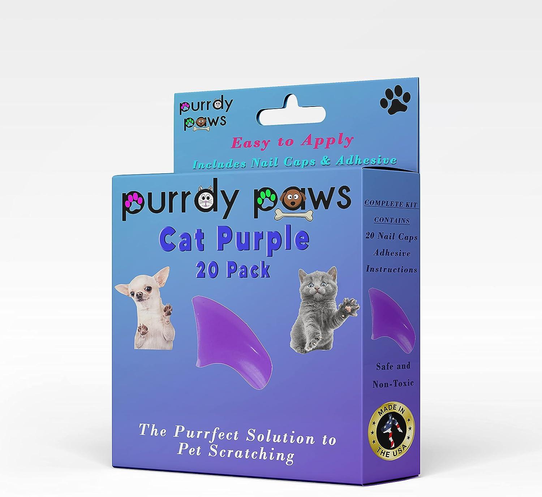 Purrdy Paws Soft Nail Caps Bargain sale Cat unisex for Claws Purple
