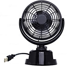 Zone Tech 12V Car and Personal Desk Auto Cooling Air Fan - Powerful Rotatable 12V Ventilation Dashboard Electric Fans operated by AA Battery or USB chord