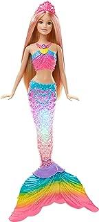 Barbie Dreamtopia, muñeca Sirena Luces de Arcoíris, regalo
