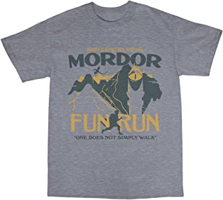Mordor Middle Earth Fun Run T-Shirt Cotton