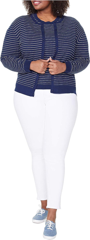 NYDJ Women's Plus Size Twin Set Cardigan Sweater