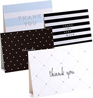 Delixike 50 Thank You Cards Bulk-Thank You Notes with 4 Designs-Blank Note Cards with Self Seal Envelopes Perfect for Business, Wedding, Gift Cards, Graduation, Baby Shower, Funeral