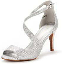 Best short heel silver prom shoes Reviews