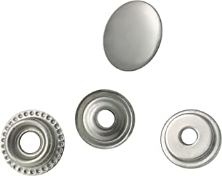 WORLD 9.99 MALL 80 Pieces Stainless Steel Fastener Snap Set, Include Button Stud Socket and Eyelet, Marine Grade, 5/8