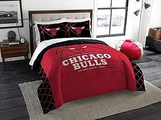 Chicago Bulls - 3 Piece FULL / QUEEN SIZE Printed Comforter & Shams - Entire Set Includes: 1 Full / Queen Comforter (86