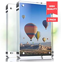 """Magnetic Acrylic Picture Frames With Rounded Corners 4.25x6.25"""" - Perfect Frameless Picture Frame - Double Sided Picture Frame - Magnetic Acrylic Frame - Clear Acrylic Block Frame DESKTOP ONLY 2pc.set"""