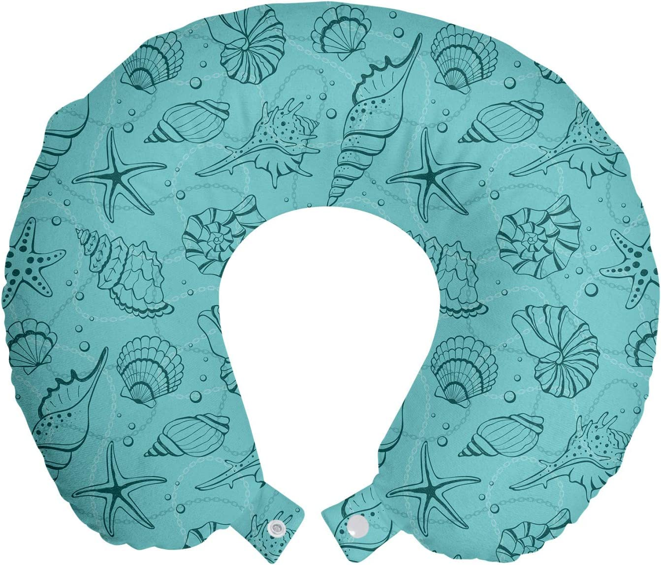 Lunarable OFFer Turquoise New Shipping Free Shipping and Teal Travel Underwater Neck Pillow Rest