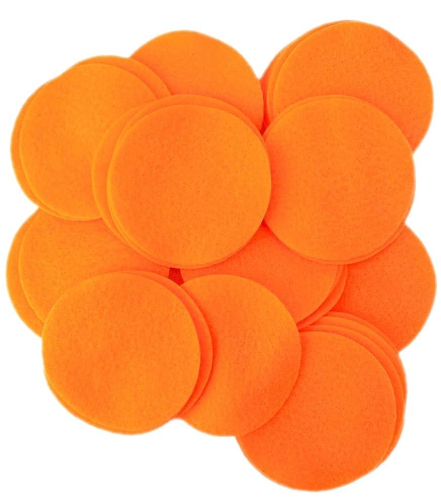 Playfully Ever After 3 Inch Orange 30pc Felt Circles