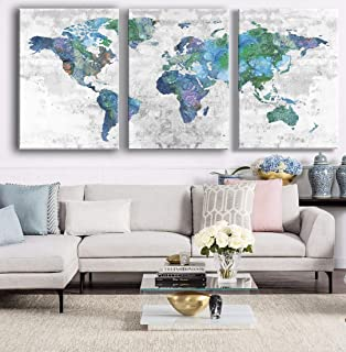 SDYA Canvas Wall Art Prints Landscape Poster Wall Art Decor Framed and Stretched 3 Panels 20