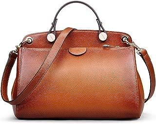 Genuine Leather Designer Handbag for Women Doctor Style Top-handle Tote Cross Body Shoulder Bag, M803