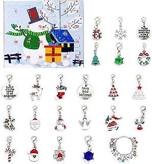 LLYX Regalo del braccialetto di natale della scatola dei perline di DIY BARCAGGIO, set di scatola regalo del calendario de...