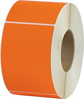 "Thermal Transfer Labels, 4"" x 6"", Orange, 4/Case"