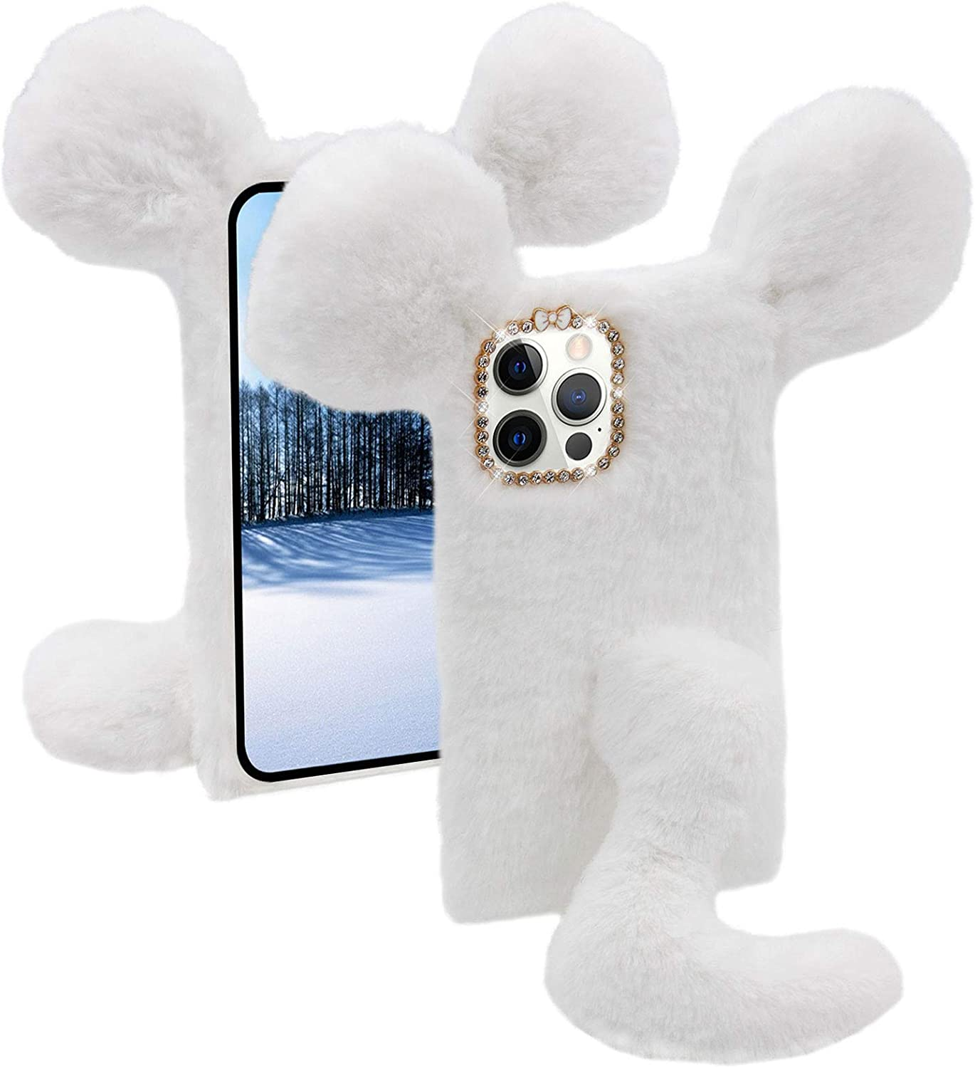 Soft Fluffy Furry Mouse Case for Google 4a with Pixel MOIKY 25% OFF 5G Mail order S