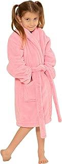 Kids Robe, Microfleece Soft Plush Bathrobe
