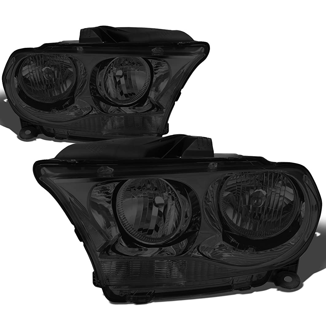DNA Motoring HL-OH-DDUR11-SM-CL1 Left+Right Headlight Smoked/Clear[11-13 Dodge Durango]