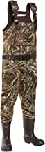 TideWe Chest Wader, Camo Hunting Wader for Men, Waterproof Cleated Neoprene Bootfoot Wader, Insulated Hunting & Fishing Wader Realtree MAX5 Camo(600G & 800G Insulation)