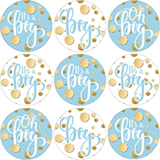 Blue and Gold It's a Boy Baby Shower Favor Stickers - 180 Labels