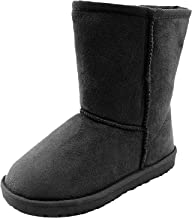 Hat and Beyond Kids Winter Boots Casual Faux Fur Calf Snow Boots Child Baby Shoes