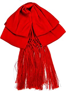 Mexican Charro Bow Tie Solid RED elastic band
