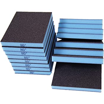ZXHAO Sanding Sponge Sanding Blocks 220 Grit 12pcs
