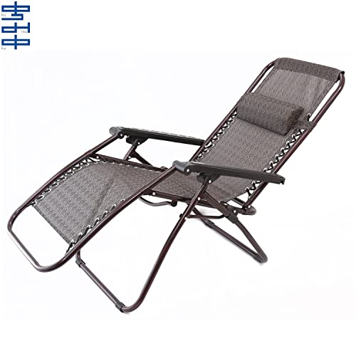 06579ae21 Kumaka Folding Zero Gravity Lounge Chair Reclining Relax Chair with  Adjustable Head Rest for Indoor